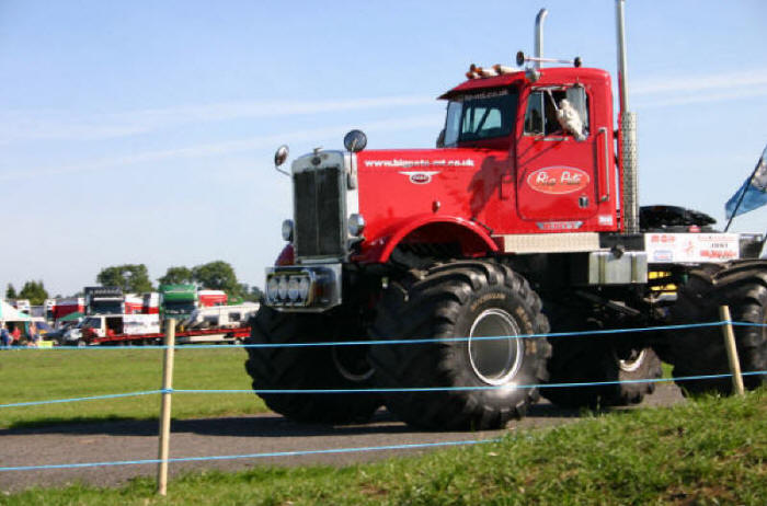 big peterbilt big pete big wheels offr road monster tires