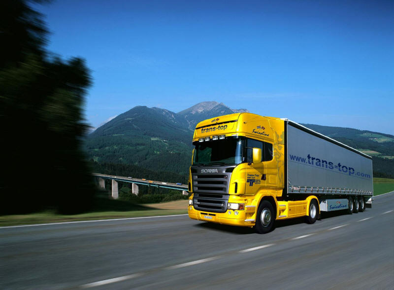 Photo of Scania Truck cruising along the roadway Trans-top truck